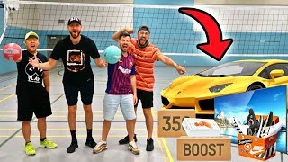 Make The Shot, I'll Buy You Anything Challenge! *VOLLEYBALL TRICK SHOTS EDITION*