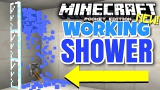 SHOWERS in Minecraft Pocket Edition?! - Command Blocks