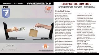 Loja Virtual com PHP 7 - Aula 13 - Enviando email para o cliente