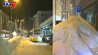 Heavy snowfall In Davos Ahead Of WEF Annual Meet | Switzerland