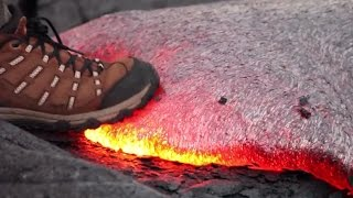 What Happens When You Step on Hot Lava? (VIDEO)