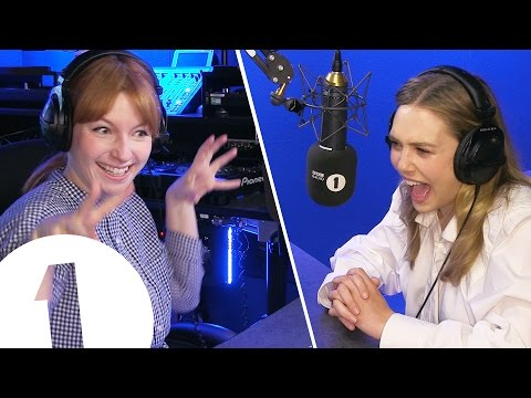 Elizabeth Olsen was totally impressed with Alice Levine's Scarlet Witch magic trick
