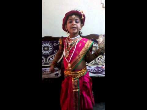 Afra acting as a Jhansi ki rani Lakshmi bai in fancy dress competation Photo Image Pic