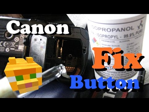 Fix shutter release button not working Canon 30D 40D 50D