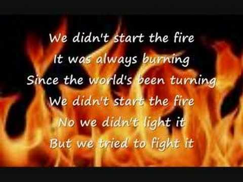 Billy Joel - We Didn't Start The Fire video