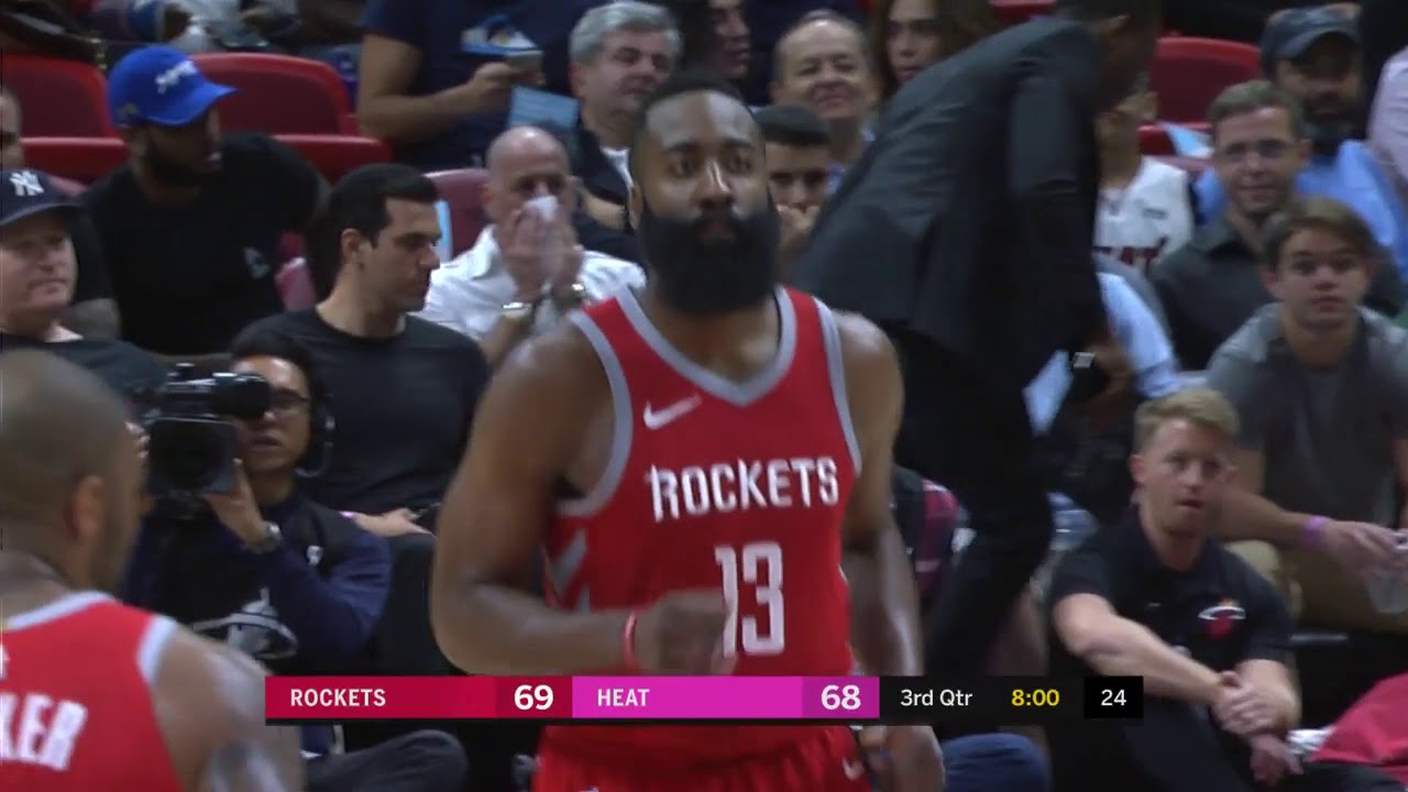 James Harden Torches Heat for 41 Points in Rockets Win