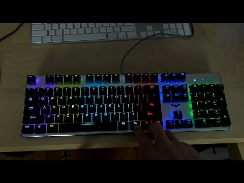 HAVIT HV-KB366L Backlit Mechanical Gaming Keyboard with Blue Switches Review!