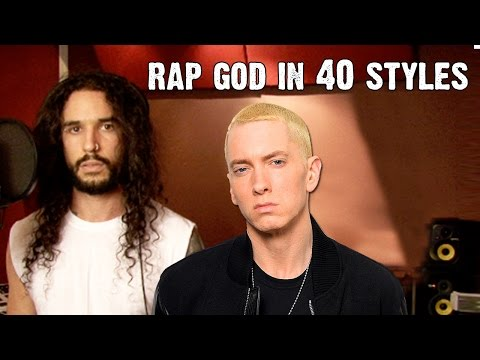 Eminem Rap God Performed In 40 Styles Ten Second Songs