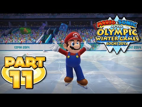 Mario and Sonic at the Sochi 2014 Olympic Winter Games - Part 11 - Figure Skating Singles