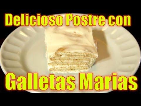 Delicioso Postre con Galletas Marias
