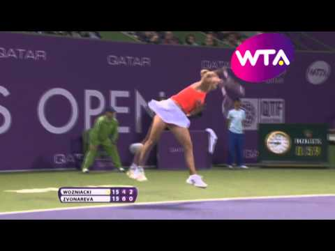 Vera Zvonareva vs Caroline Wozniacki | 2011 Highlights