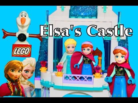Elsa Frozen LEGO Disney Elsa's Sparkling Ice Castle Palace Play Set Video Anna Olaf Legos New Toy