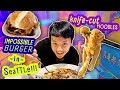 Trying IMPOSSIBLE BURGER & BEST Knife Cut NOODLES! thumbnail