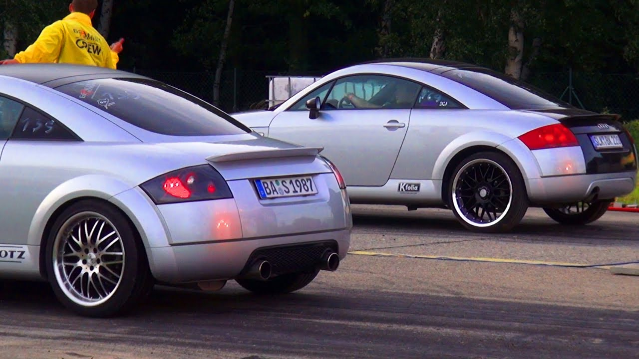 Audi TT 1,8T Quattro Sport VS Audi TT 1,8 Turbo 8N Coupe 1/4 Mile Race Viertelmeile Rennen - YouTube