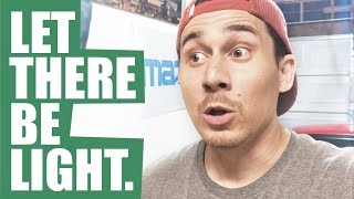 That One Car Garage Vlog #1 - Let There Be Light!