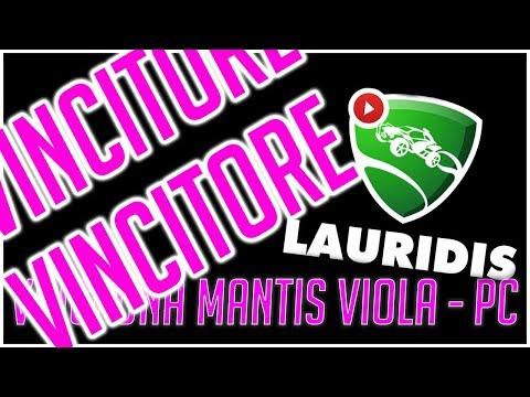 VINCITORE GIVEAWAY MANTIS VIOLA - Rocket League ITA