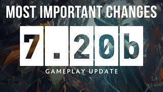 Dota 2 NEW 7.20b Patch GAMEPLAY UPDATE - MOST IMPORTANT CHANGES!