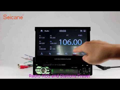 1 Din Universal Radio GPS Navigation Support MP5 Bluetooth Music Digital TV