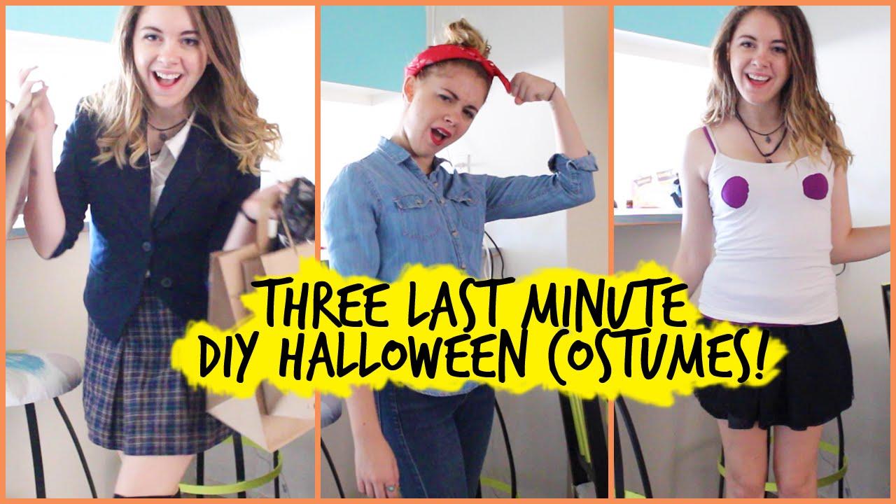 3 Diy Last Minute Halloween Costumes Regina George Clueless Amp Rosie The Riveter Youtube