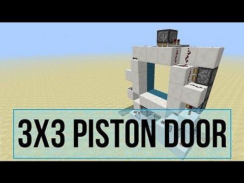 Minecraft Piston Door 3x3 3x3 Piston Door