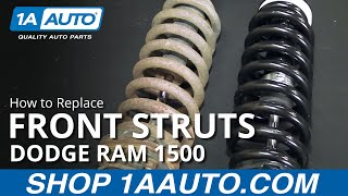 How to Install Replace Front Spring Assembly 2006-08 Dodge Ram 1500 BUY QUALITY PARTS AT 1AAUTO.COM