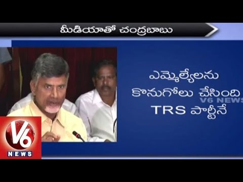 Chandrababu Naidu Press Meet after meeting PM Modi over Phone Tapping controversy (10-06-2015)