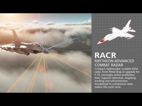 Raytheon - F-16 Fighter Upgraded AESA RACR Radar Combat Simulation [1080p]
