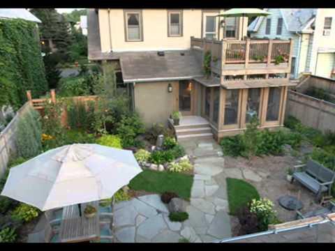 ландшафтный дизайн двора частного фото