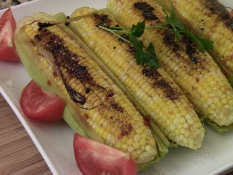 Grilled Corn with An Asian Glaze