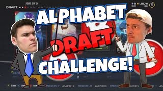 THE ALPHABET DRAFT CHALLENGE vs JIPS!! Madden 17 Smack Talking Draft Champions!!