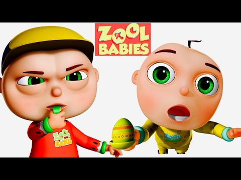 Zool Babies Playing Egg and Spoon | Zool Babies Series | Cartoon Animation For Kids