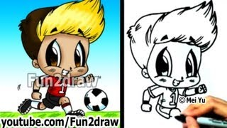 How to Draw Chibi - How to Draw a Soccer Player - Drawing Tutorials - Fun2draw