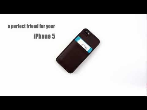 iPhone 5 leather wallet case by VaultSkin