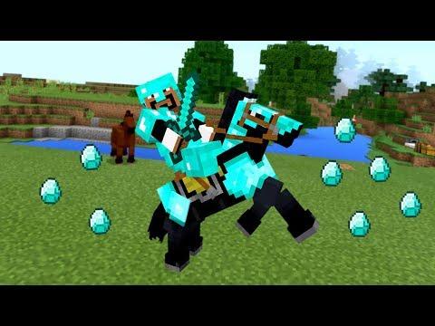 ПОЛНАЯ АЛМАЗНАЯ ЭКИПИРОВКА и БРОНЯ НА ЛОШАДЬ!! (Minecraft #3)