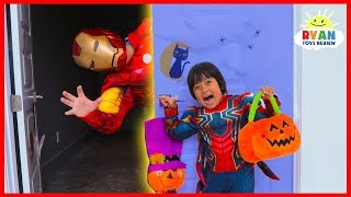 Ryan Halloween Trick or Treat Pretend Play Costume Dress Up for Candy Haul!