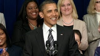 President Obama Speaks at the White House Forum on Women and the Economy