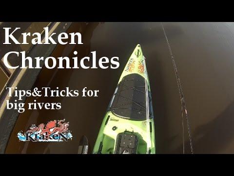 Kraken Chronicles- Tips&Tricks for kayak fishing big rivers (bait, anchor, fishfinder)