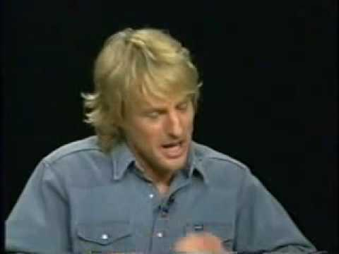 Owen Wilson on Charlie Rose - Part 1