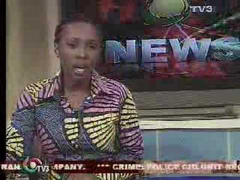Efua Asiedu, News Reader on TV3 in Ghana. Very pretty woman. 1.30 min.