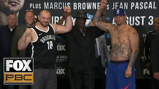 Watch the full weigh-ins for Adam Kownacki vs Chris Arreola | PRESS CONFERENCE | PBC ON FOX