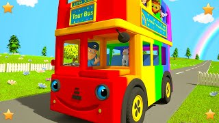 Rainbow Wheels on the Bus | Kindergarten Nursery Rhyme Song for Kids by Little Treehouse S03E142