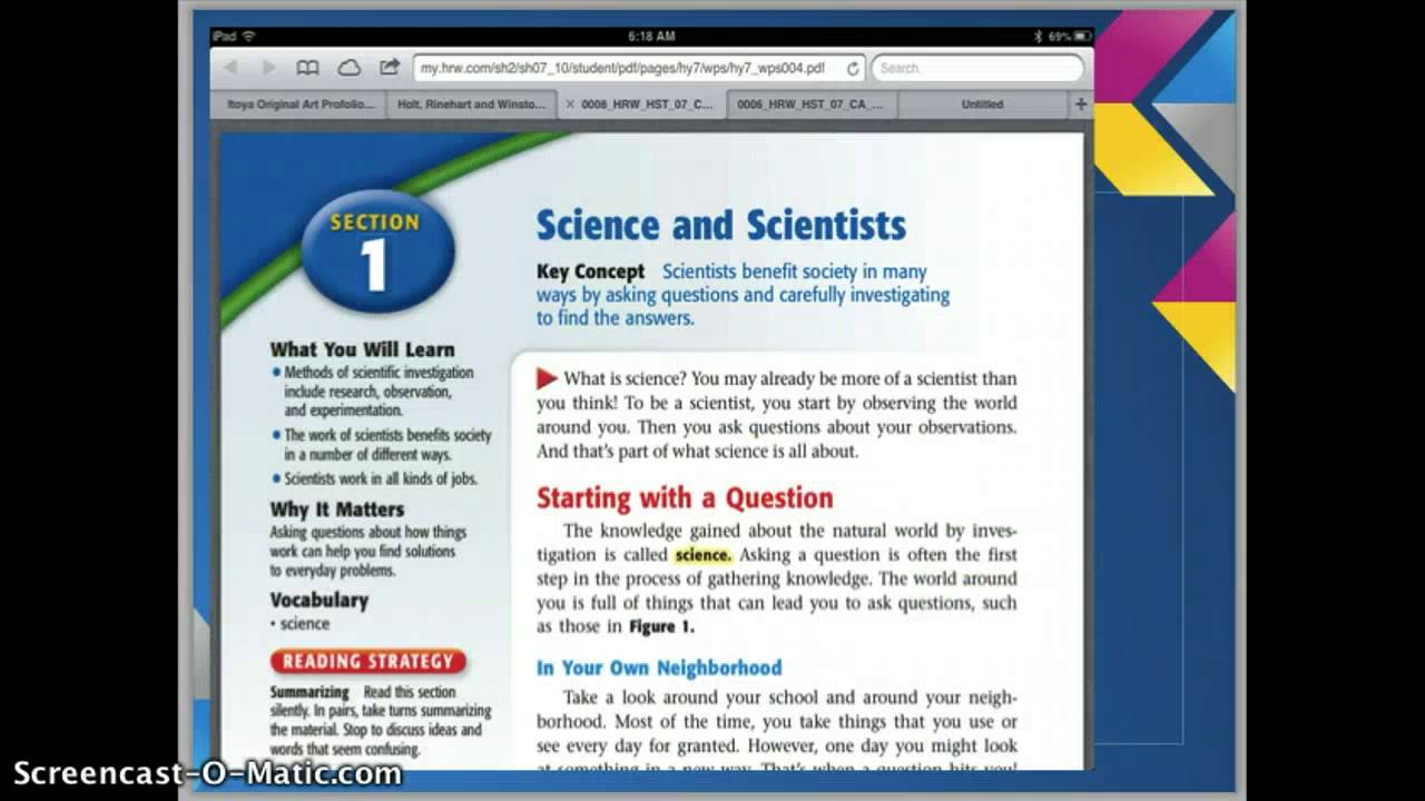 Interactive Science 8th Grade Using Your 8th Grade Science