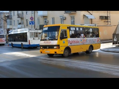 Как в Севастополе заносит автобусы, троллейбусы - городские службы не готовы к зиме. Гололёд Крым