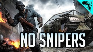 DICE BANNED SNIPERS - Battlefield 1 Custom Game Multiplayer Gameplay LIVE