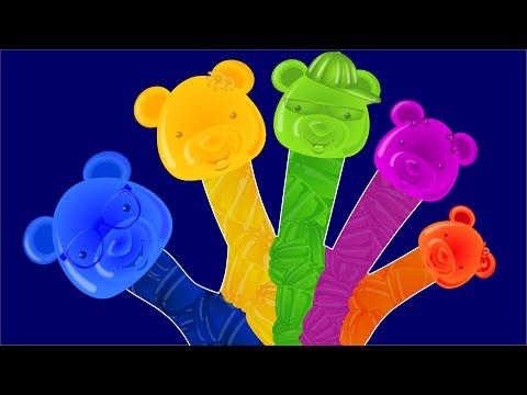 Finger Family | Candy Bear Finger Family | English nursery rhymes for children