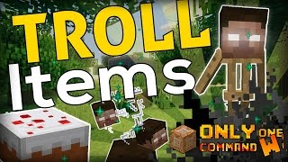 11 WAYS to TROLL in Minecraft (Troll Items command)