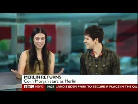 Merlin Colin Morgan And Katie Mcgrath On Bbc Breakfast