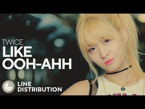 TWICE - Like Ooh-Ahh (Line Distribution)