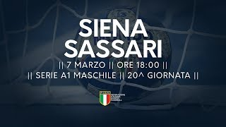 Serie A1M [20^]: Siena - Sassari 23-37