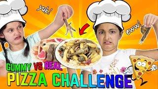 REAL vs GUMMY PIZZA CHALLENGE!!!🍕 Kids vs Food -Kids Eat GROSS Real Food 😝 Chicken Feet & Snails🐌